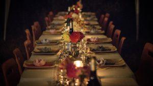 festive Christmas dinner